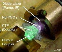 Detail rozebran�ho laseru za chodu