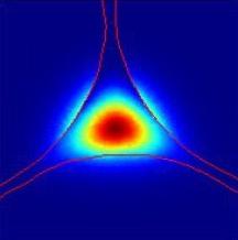 Šíření paprsku světla středem solitonového optického vlákna